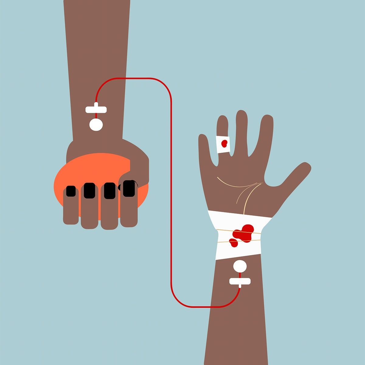 Clipart of blood transfusion vector illustration