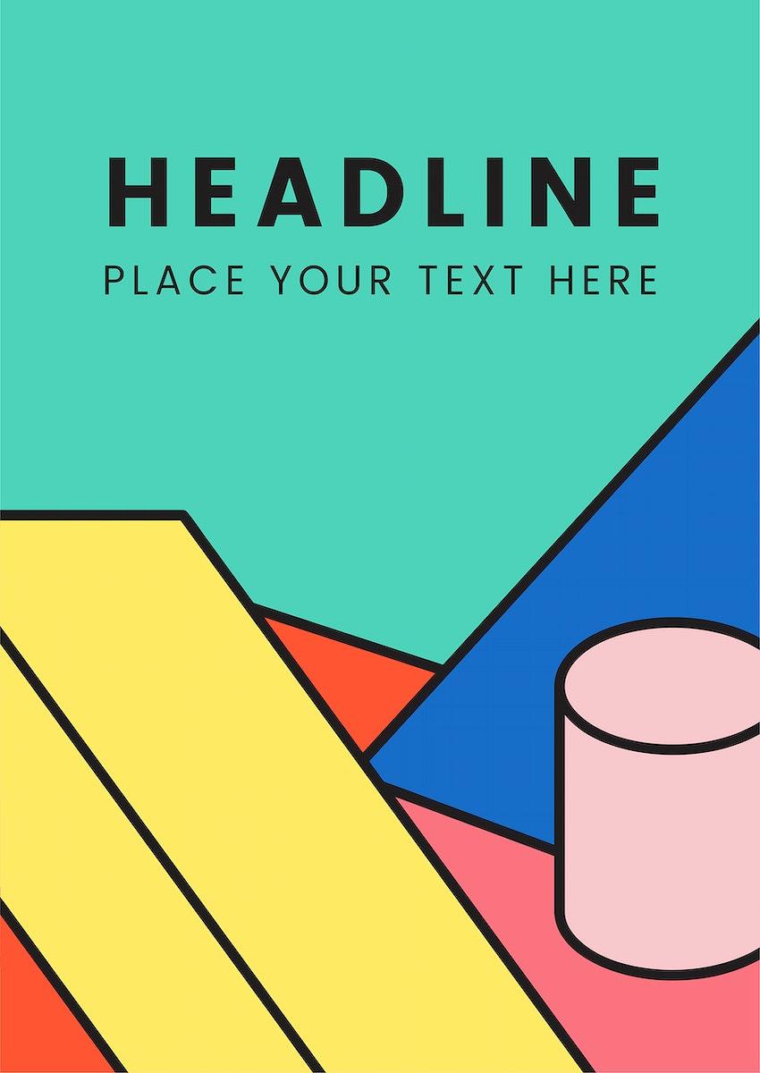 Headline colorful mockup graphic design