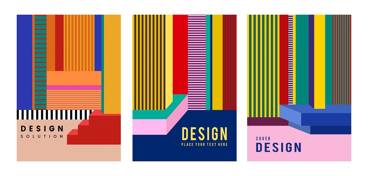 Modern colorful poster design graphic