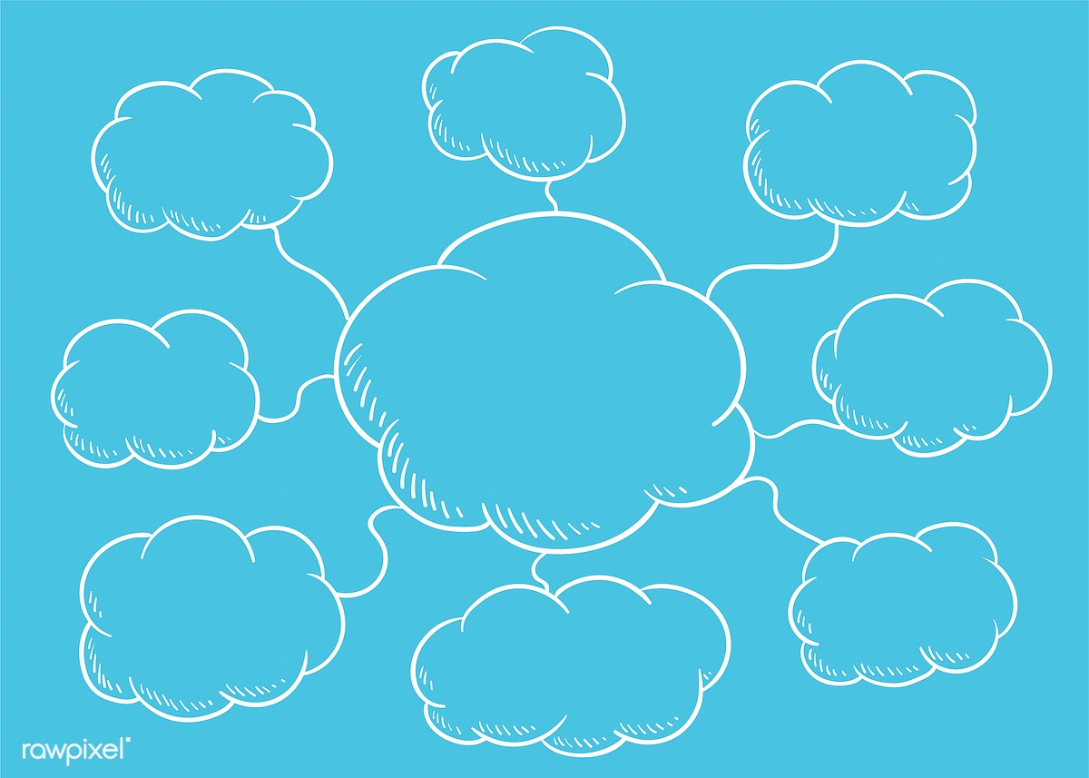 Cloud speech bubble illustration | Free stock illustration