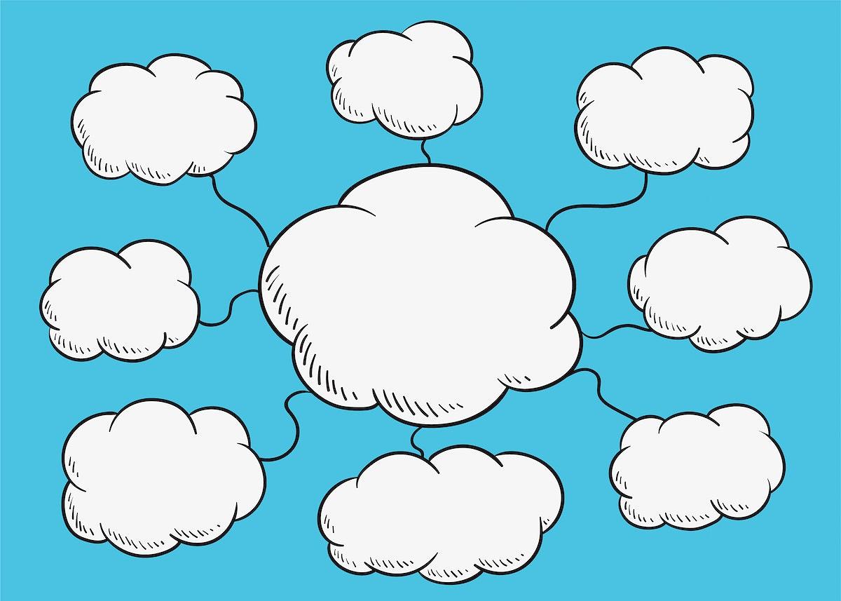 Cloud diagram illustration