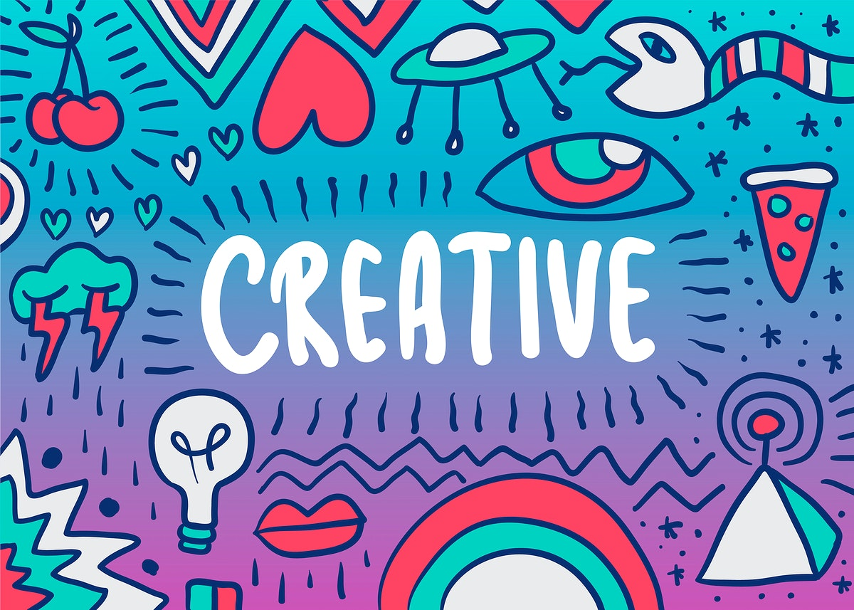 Creative doodle illustration