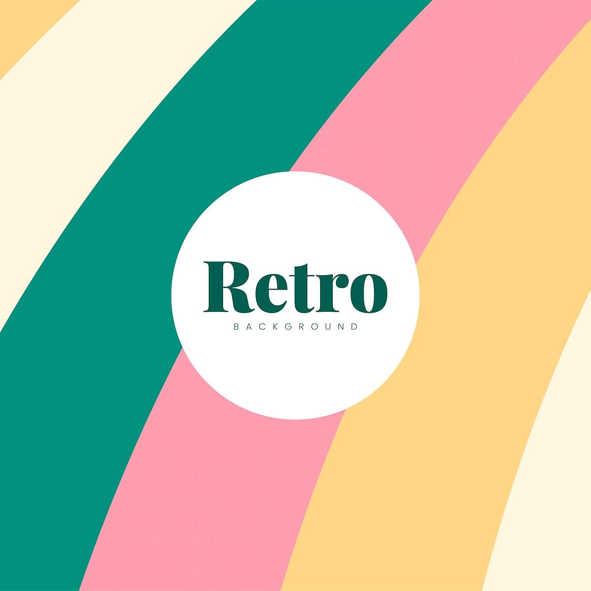 Colorful retro print background design