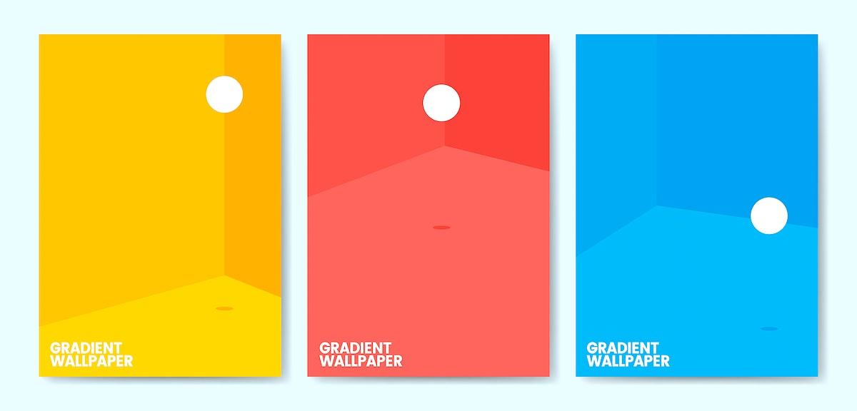 Colorful gradient wallpaper template design