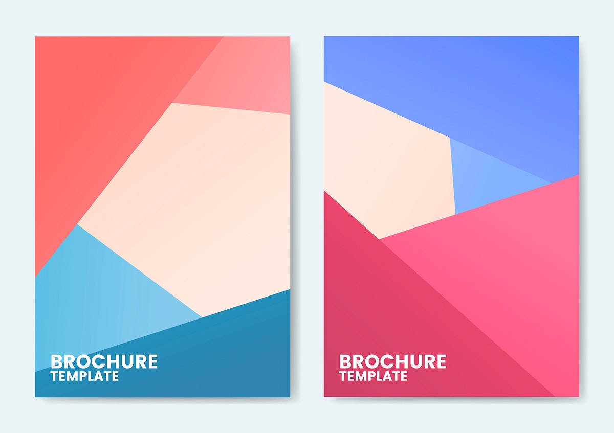 Modern colorful brochure template design