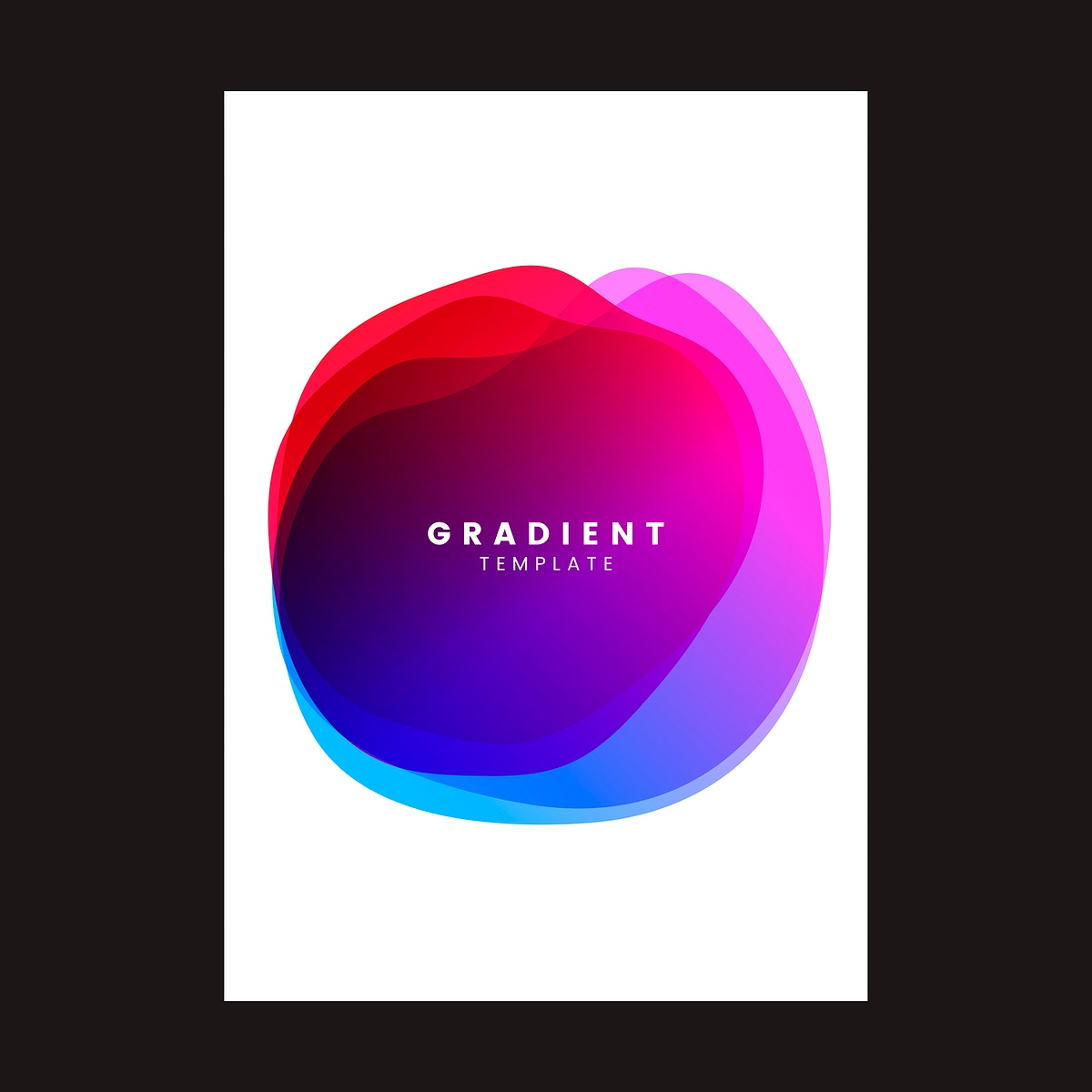 Colorful gradient template poster design
