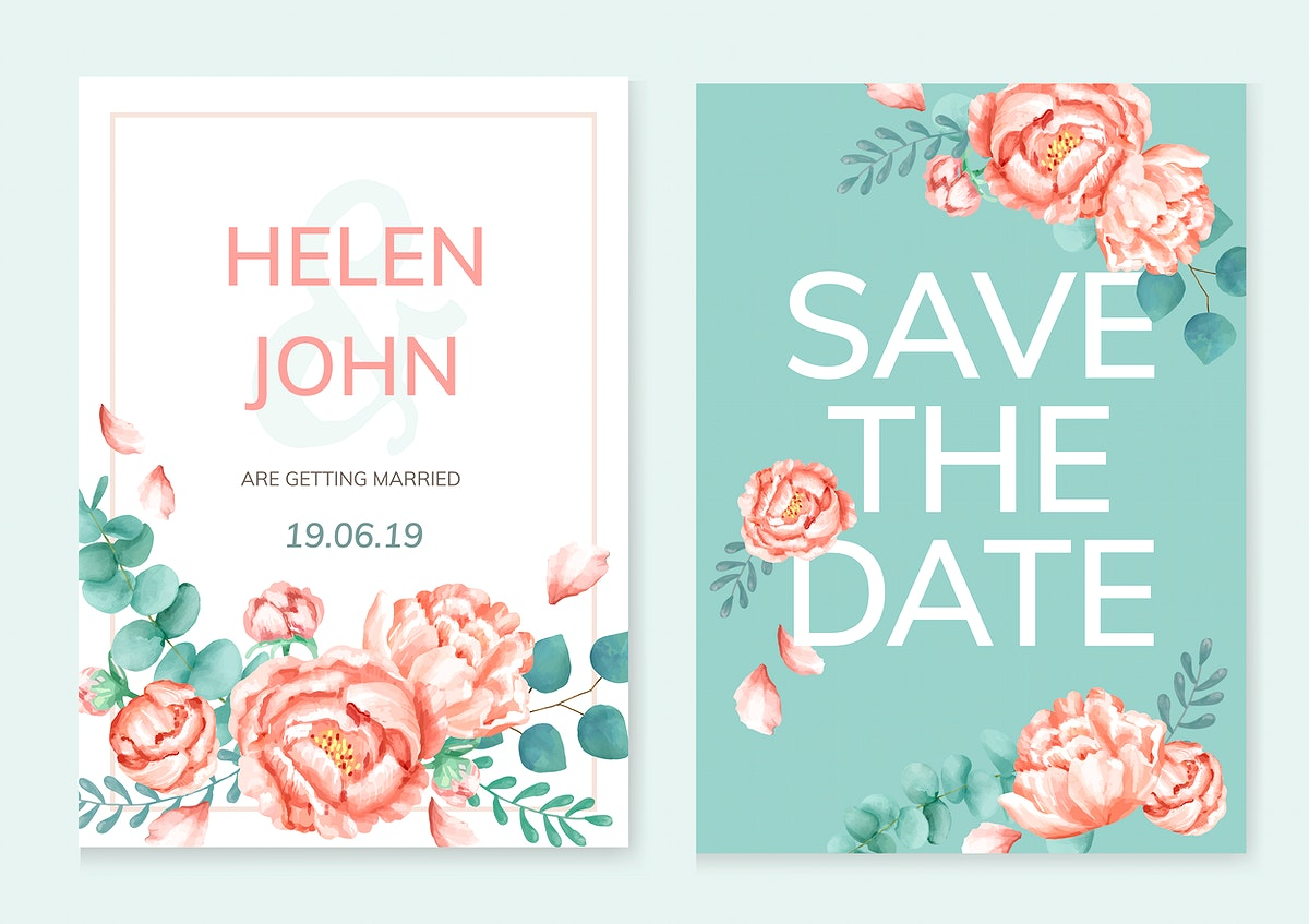 Floral themed card with green background