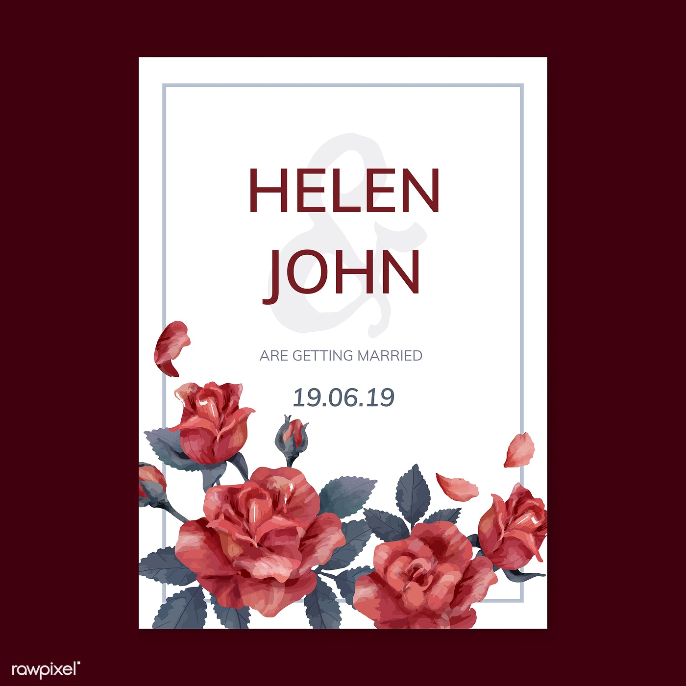 Invitation card with a red color scheme - ID: 466690