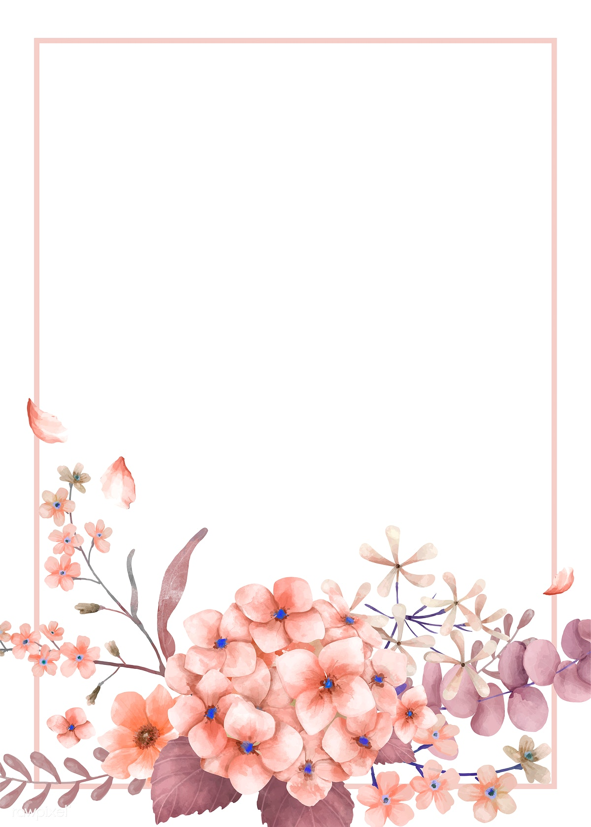 Greetings Card With Pink And Floral Theme Royalty Free
