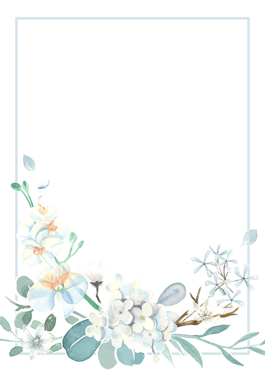 Invitation card with a light blue theme