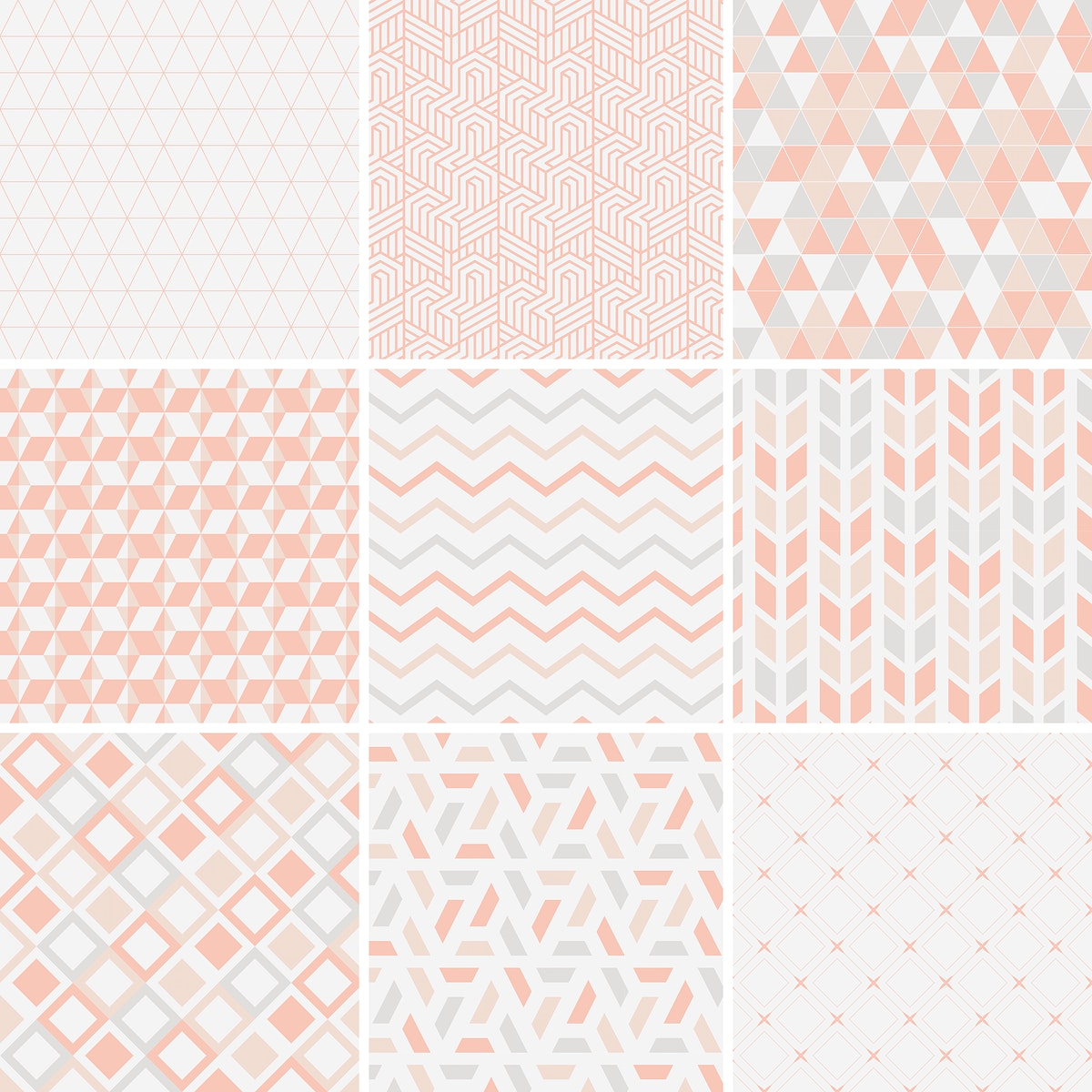 Collection of patterns vector illustration