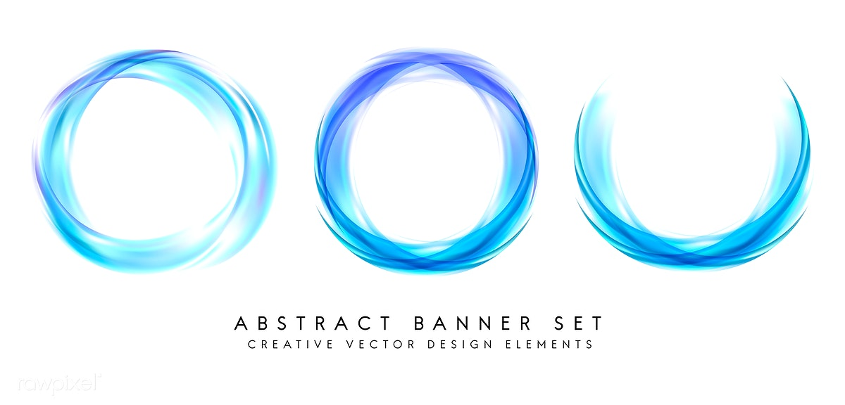 Abstract Banner Set In Blue Free Stock Vector 484319
