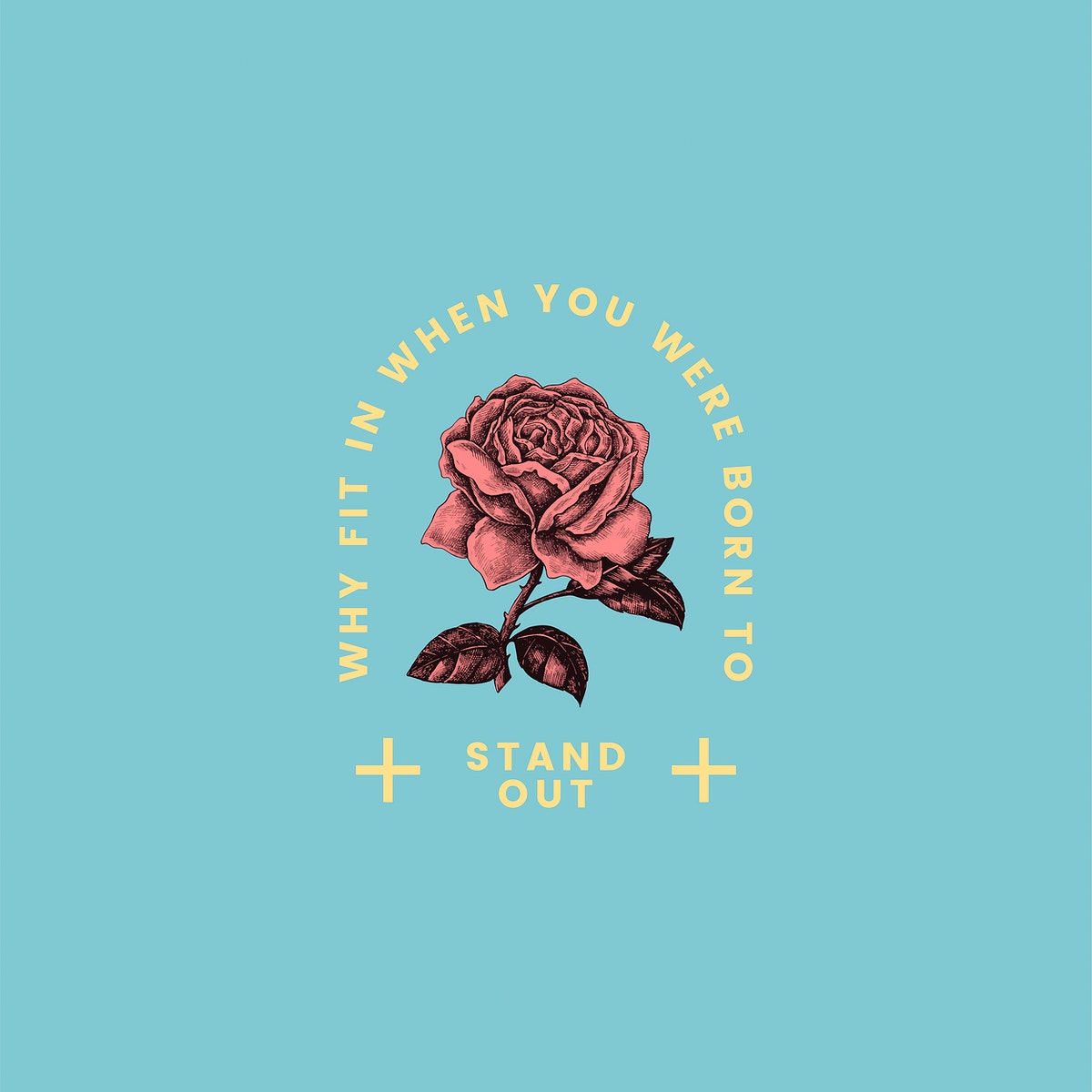 Stand out rose logo design vector