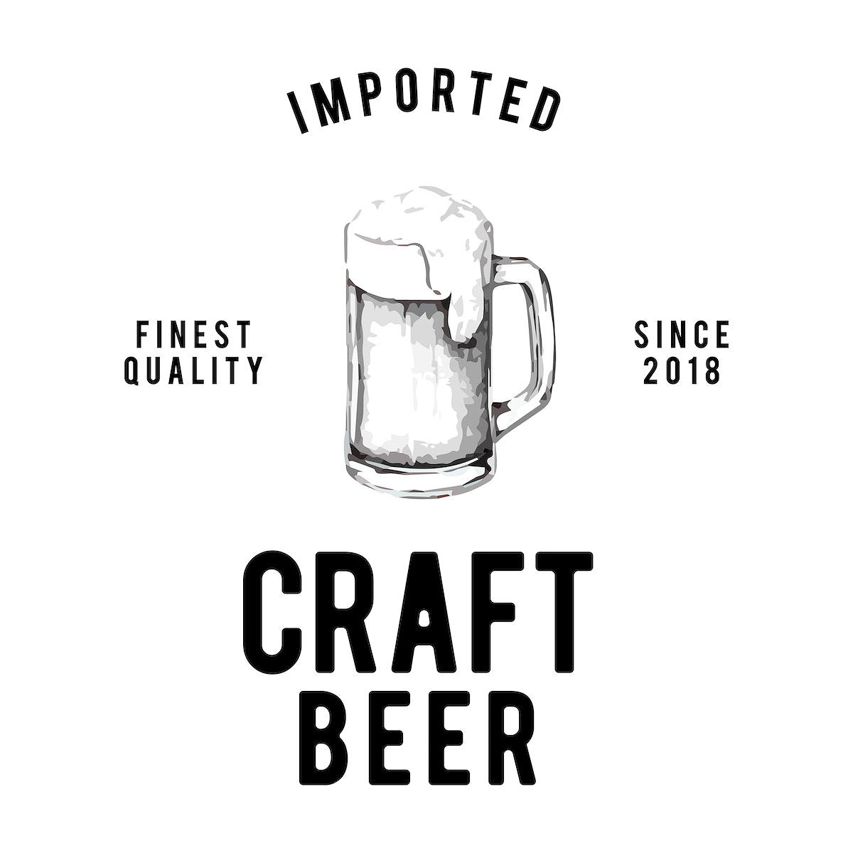 Craft beer logo design vector