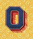 Capital letter O vintage typography style