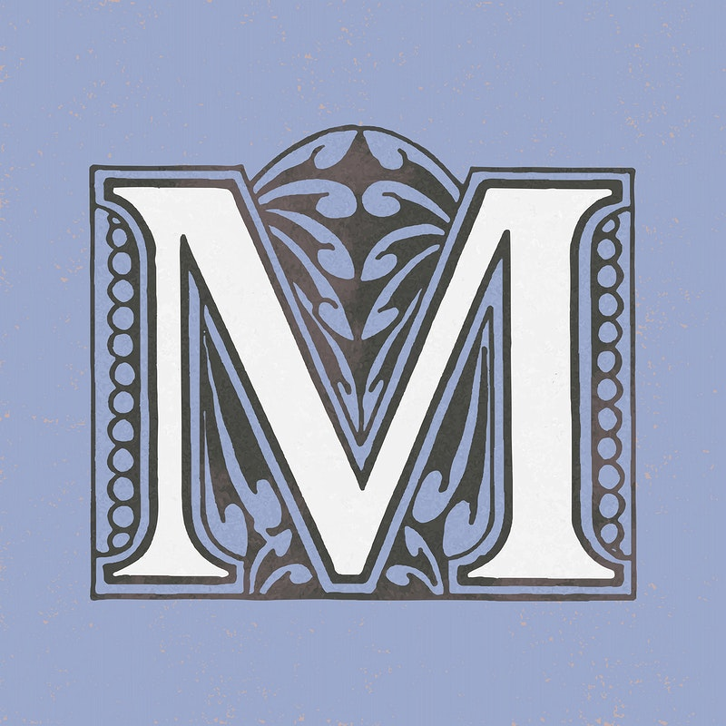 Capital Letter M Vintage Typography Style Id 474742