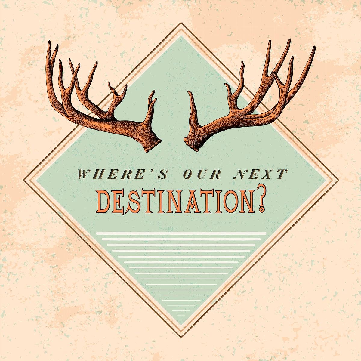 Destination travel logo design vector