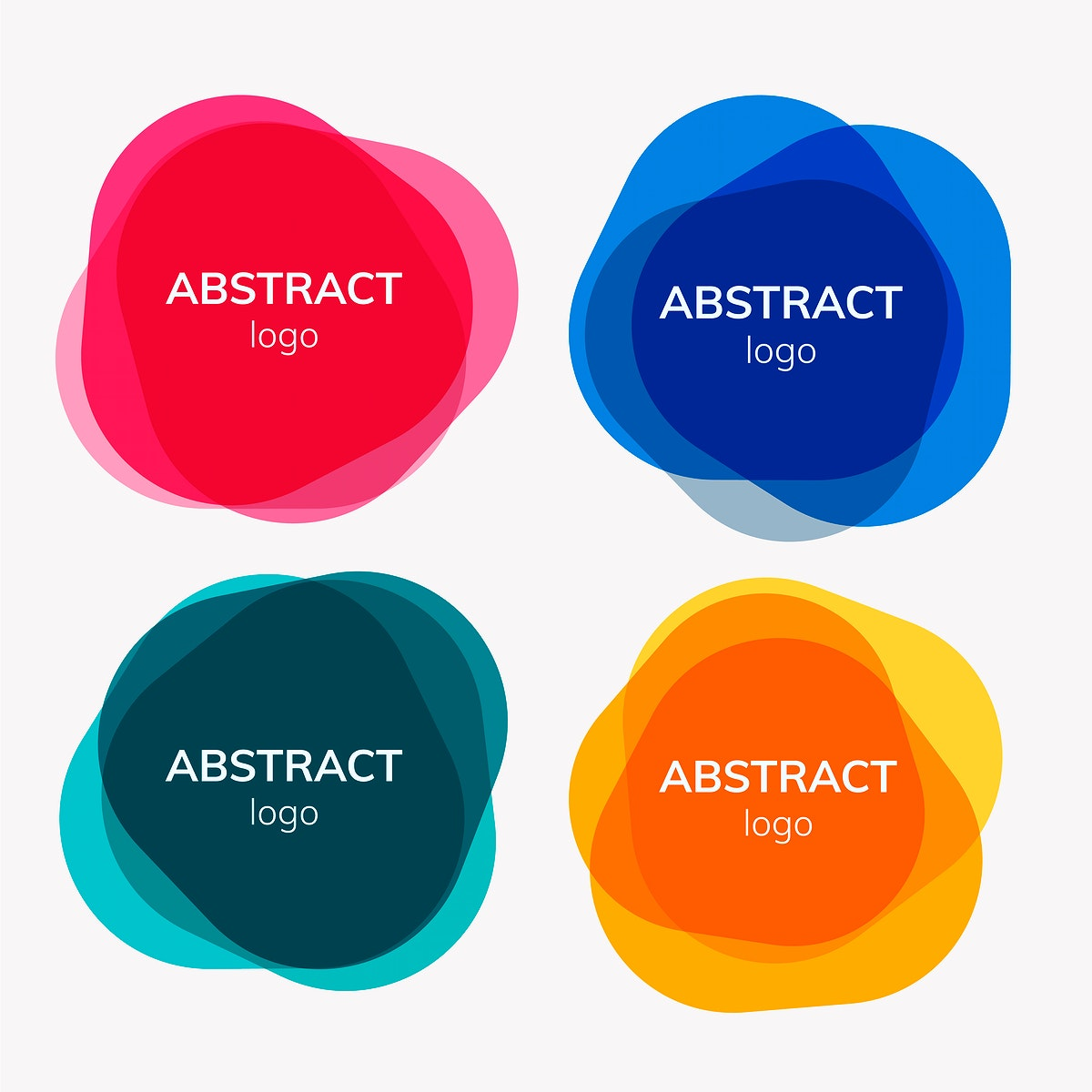 Set of abstract badge designs