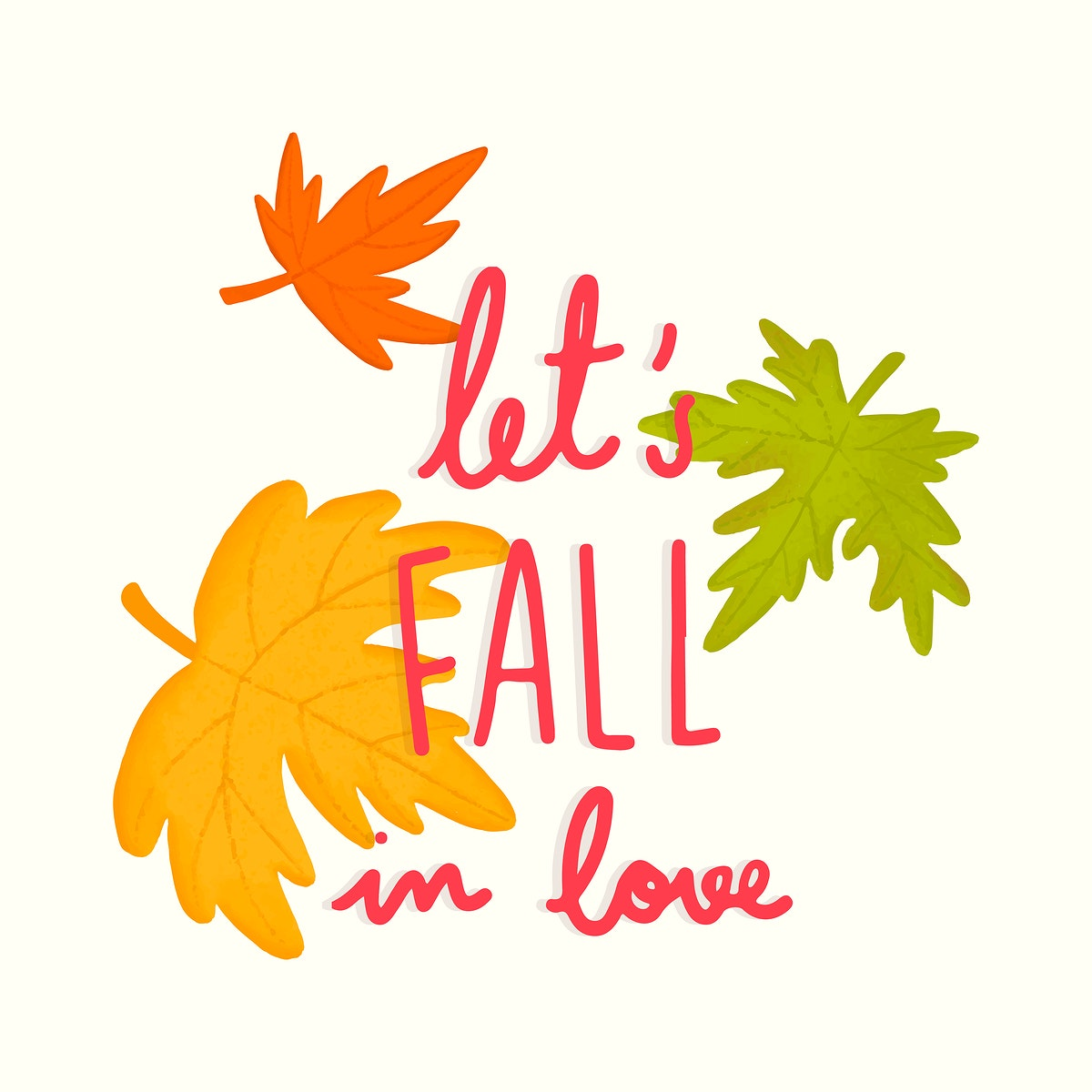 Let's fall in love illustration