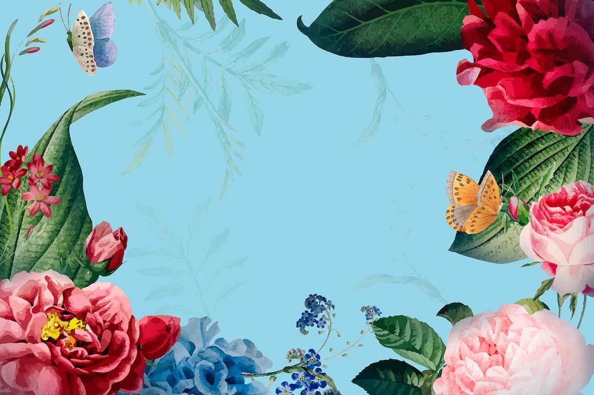 Floral frame card design illustration