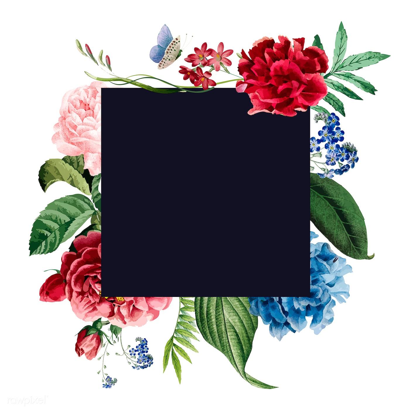 Download Premium Vector Of Floral Frame Invitation Card Design 466661