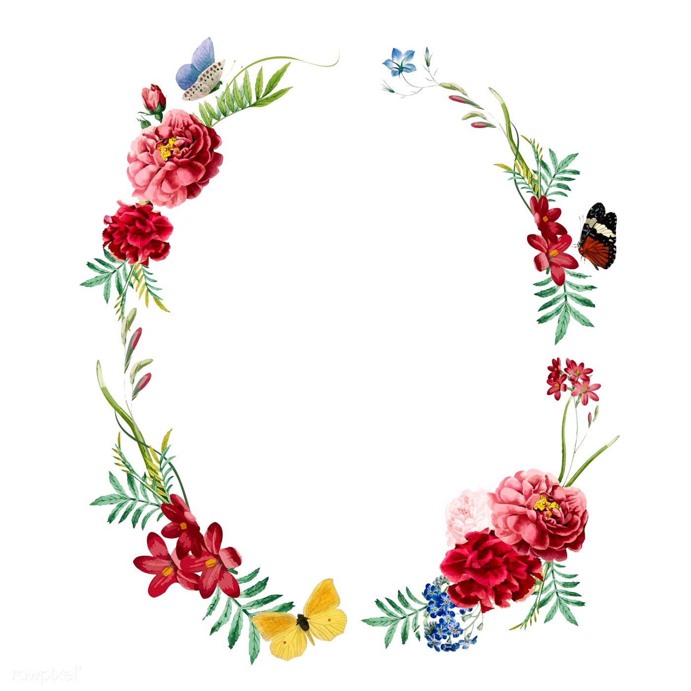 Download Premium Vector Of Floral Frame Invitation Card Design 466609