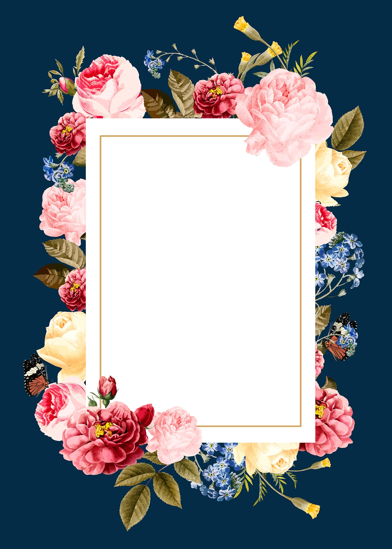 elegant floral design space  royalty free vector  681562