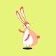 Pink bunny animal cute wildlife cartoon illustration for kids