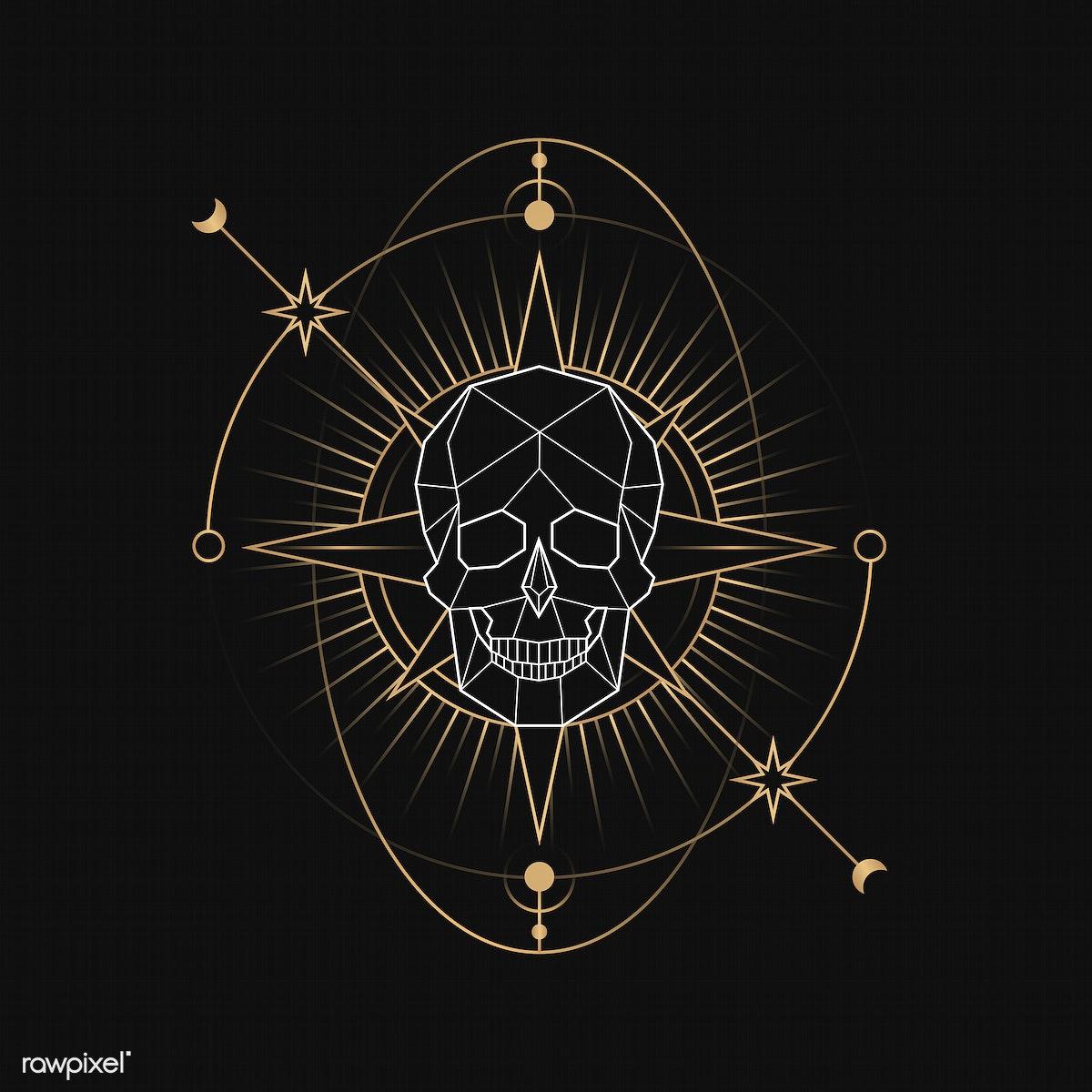 Download premium illustration of Geometric mystic death symbol vector