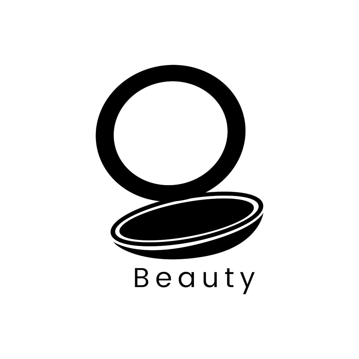 Black compact powder icon cosmetic vector