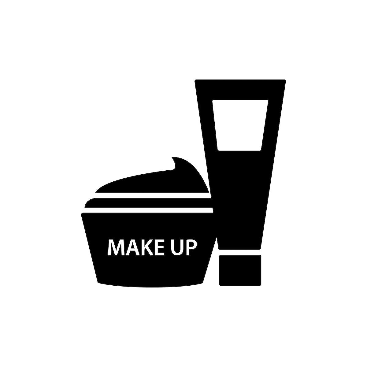 Black facial cream containers vector