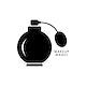 Black atomizer perfume bottle icon
