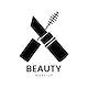 Black mascara icon cosmetics vector