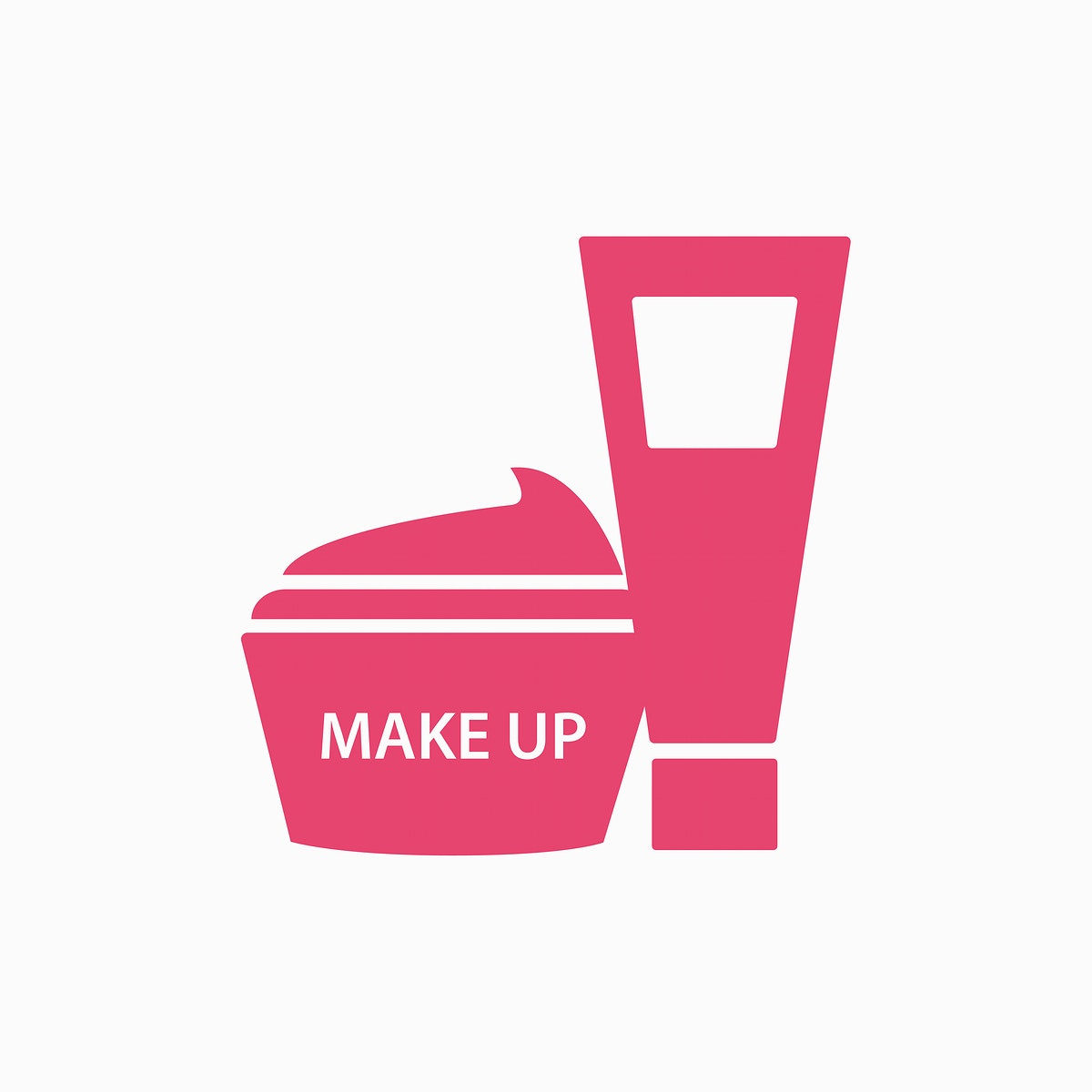 Pink facial cream containers vector