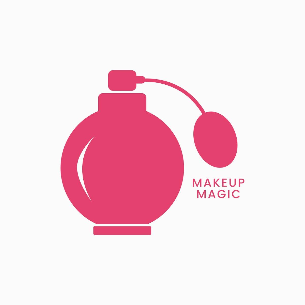Pink atomizer perfume bottle icon