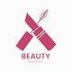Pink mascara icon cosmetics vector