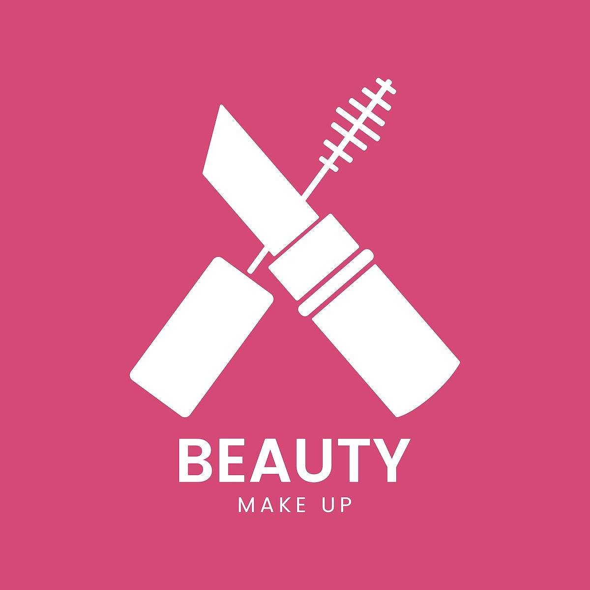 White mascara icon cosmetics vector