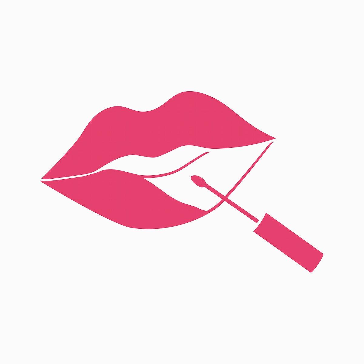 Liquid lipstick application vector