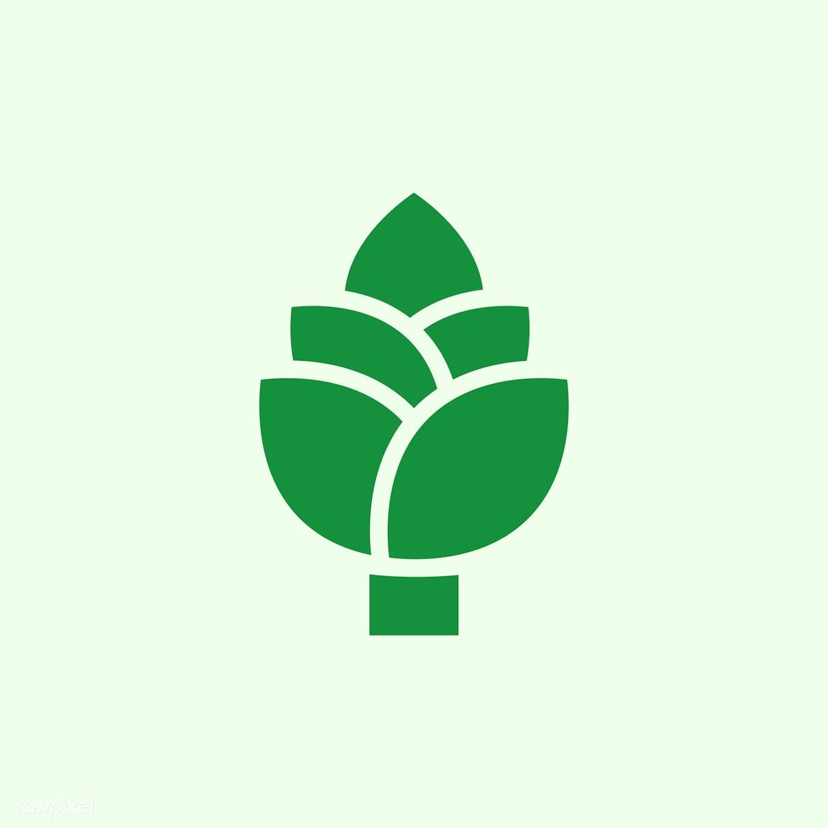 Green go vegan icon vector   Free stock vector - 487188