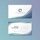 Modern geometric business card design