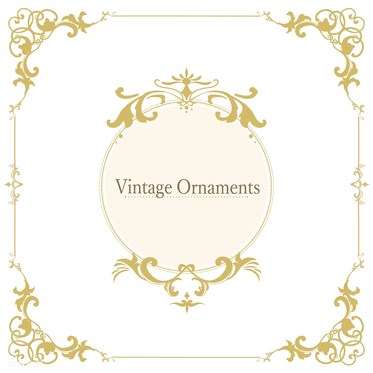 Download premium illustration of Vintage flourish ornament frame vector
