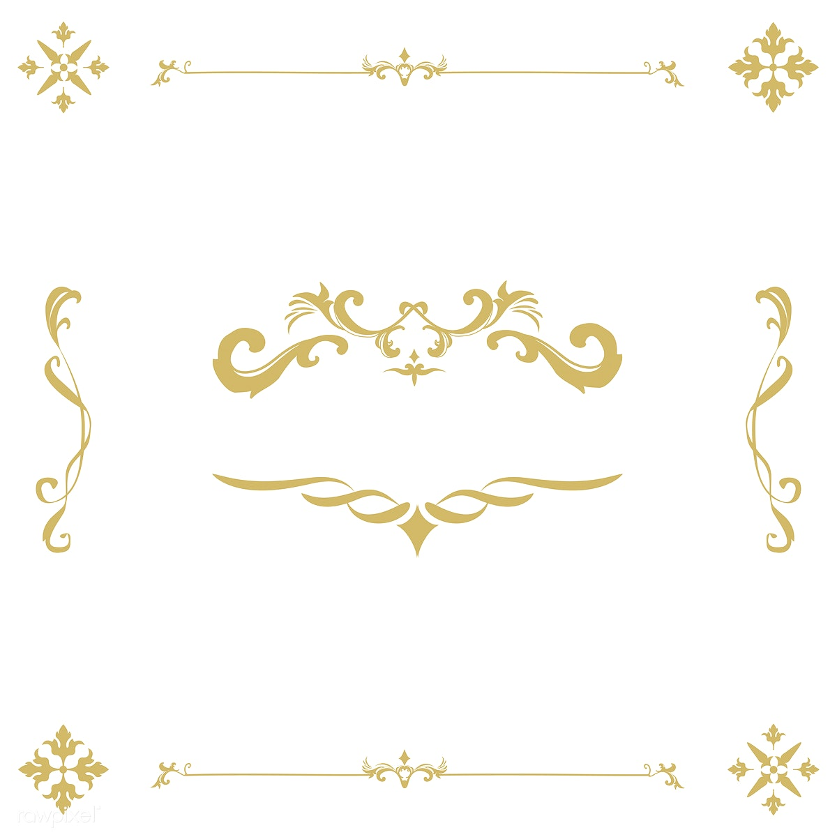 0c30ba8fa91 Vintage flourish ornament frame vector