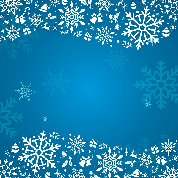 blue christmas winter holiday background with snowflake vector free vector 494105 blue christmas winter holiday