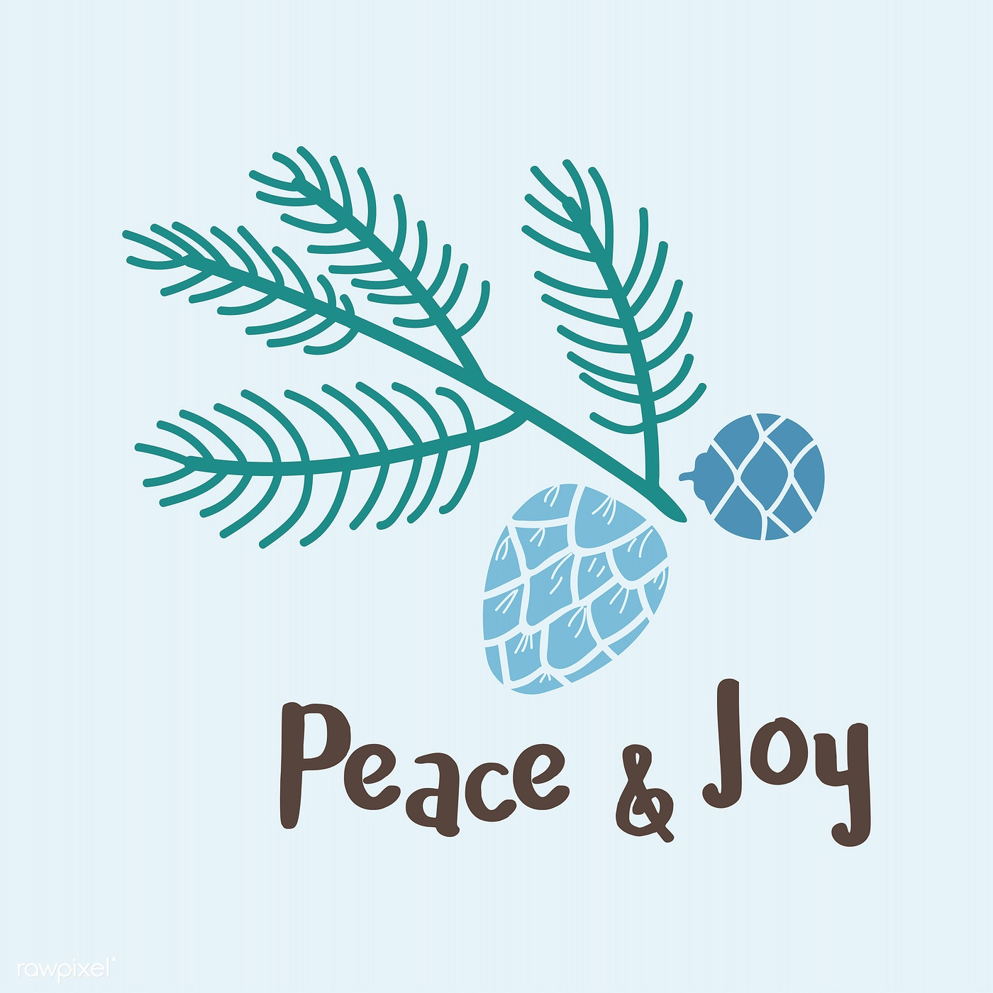 Peace & Joy greeting badge vector