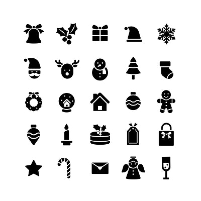 Christmas Icons Royalty Free Stock Vectors Rawpixel