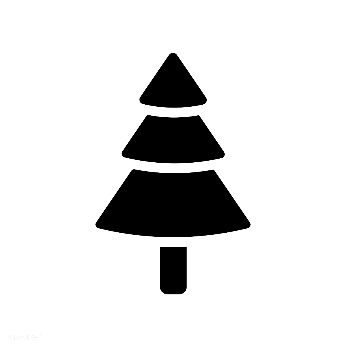 Christmas Tree Facebook Icon: Christmas Tree Icon Decoration Vector