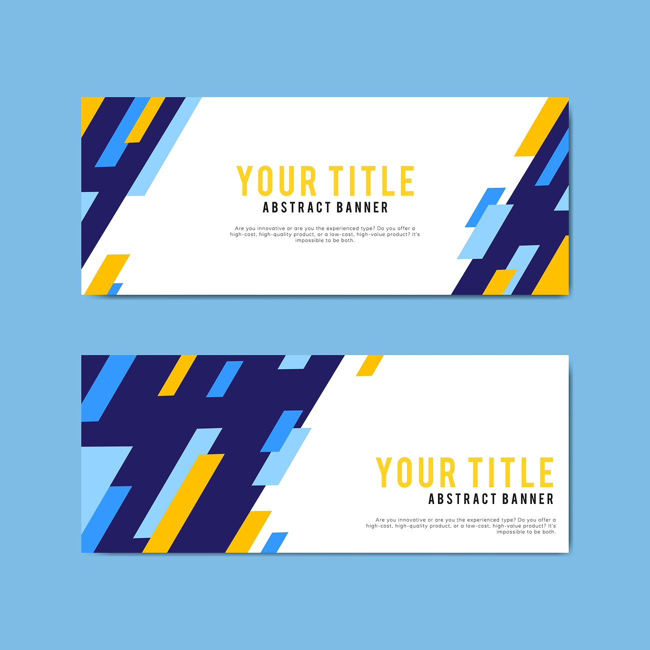 Simple Web Banner Design Free Vector 495411