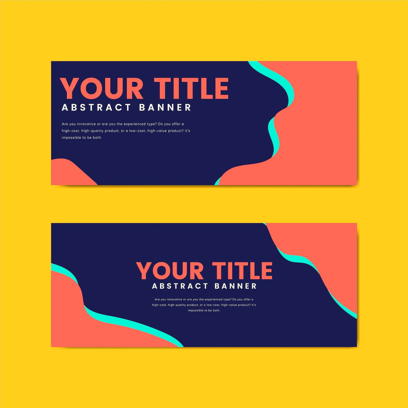 Colorful And Abstract Banner Design Templates Free Vector 495424