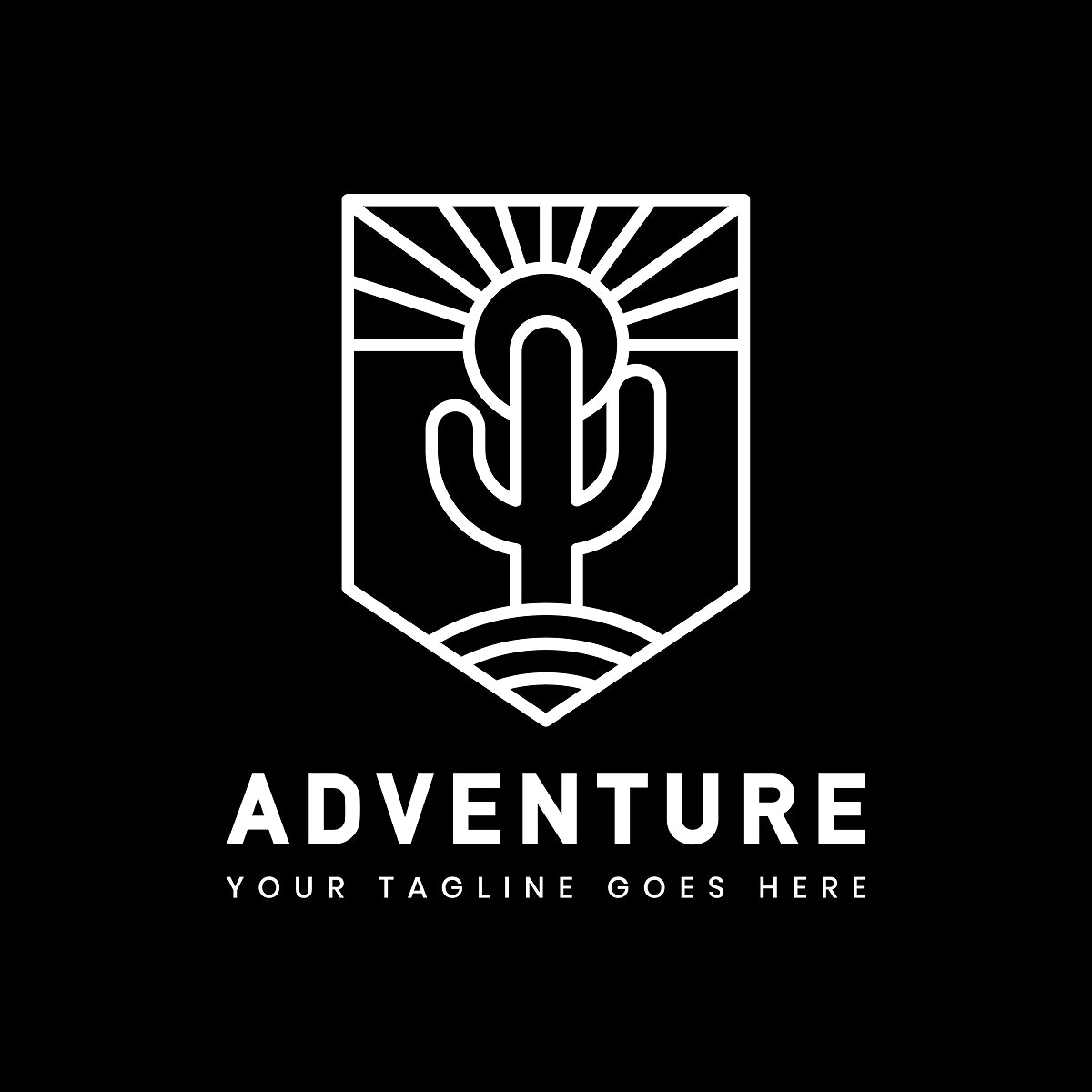 Outdoor adventure logo badge template