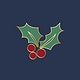Christmas holly leaves design vector